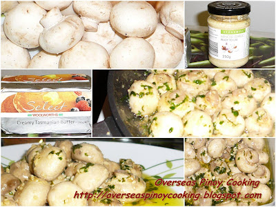 Pinoy Garlic Mushroom - Cooking Procedure