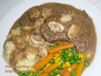 Salisbury Steak, Burger Steak with Mushroom Sauce