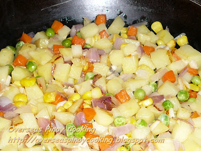 Corned Beef with Mixed Vegetables - Cooking Procedure