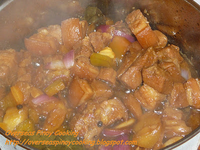 Pork Adobo with Pineapple - Cooking Procedure