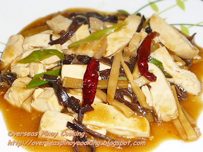 Tofu with Black Fungus and Bamboo Shoot