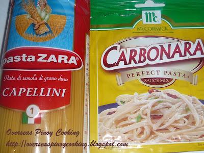 Tuna Carbonara - Spaghetti Pasta