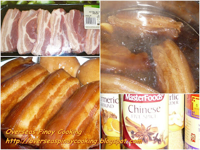 Braised Pork Belly, Pork Rasher - Cooking Procedure