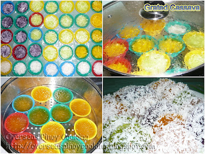 Pichi Pichi (Grated Cassava)- Cooking Procedure