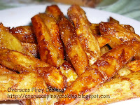 Caramel Kamote Fries Flavored with Cinnamon
