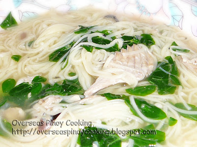 Misua with Canned Salmon Soup - with Malungay