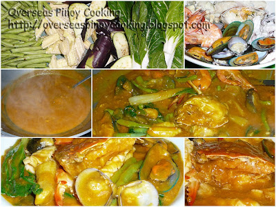Seafood Kare-kare - Cooking Method
