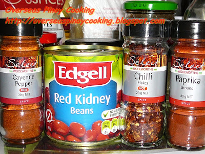 Spicy Chili con Carne - Ingredients