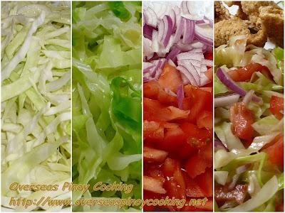 Ensaladang Repolyo with Chicharon - Cooking Procedure
