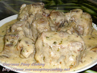 Oxtail with Mushroom Sauce