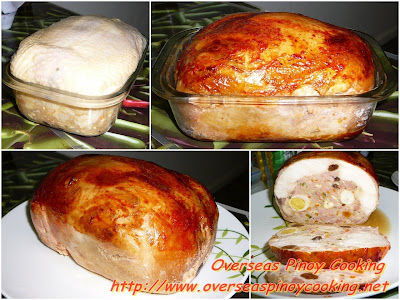 Chicken Meatloaf, Chicken Relleno Style - Cooking Procedure