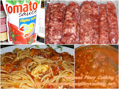 Pinoy Spaghetti with Sweet Longganisa - Cooking Procedure