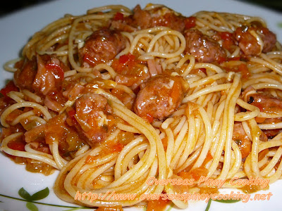 Pinoy Spaghetti with Longganisa