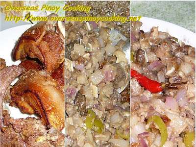 Crispy Sisig - Ingredients