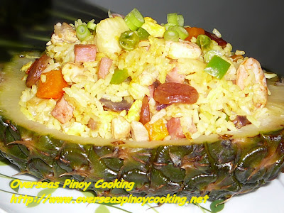Pineapple Fried Rice in Pineapple Shell