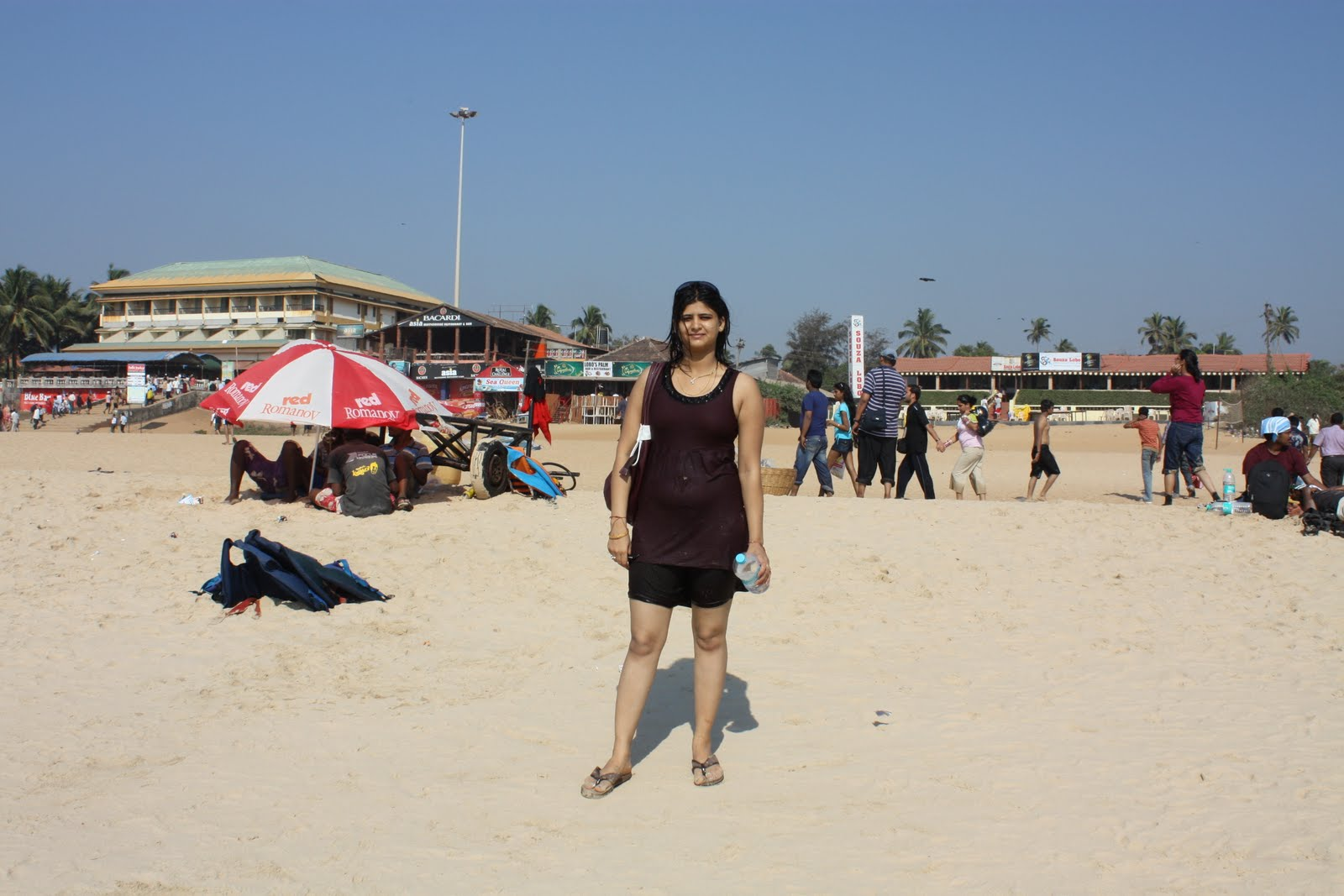 Hot Indian Girl Pictures At Goa Beach-3203