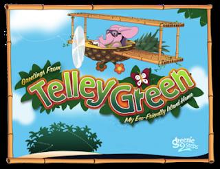 Telley Green wall art Greenie 2 Steps