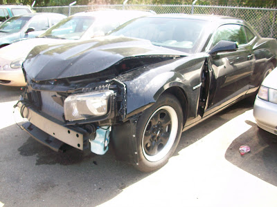 2010 camaro crash