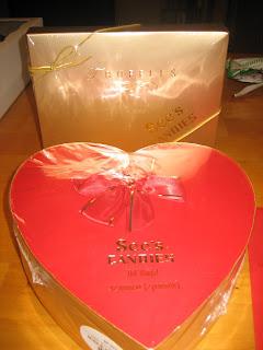 gift inside birthday cake