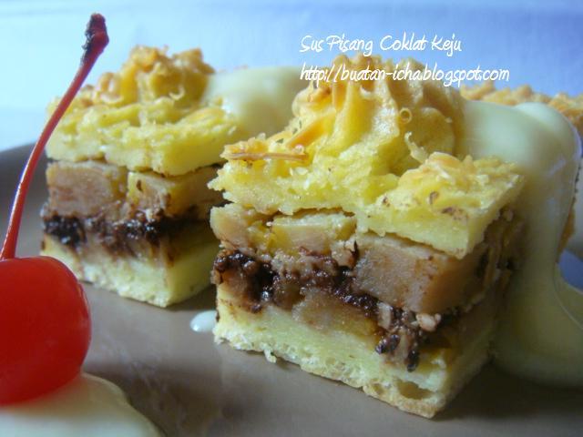 Resep Cake Pisang Ncc Fatmah Bahalwan: Kueh 'Mi: Sus Pisang Coklat Keju