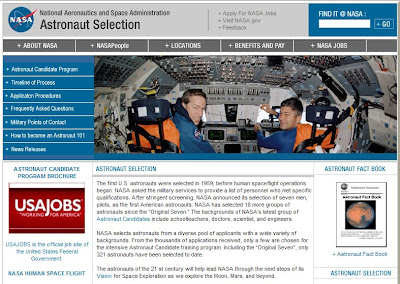 Astronaut Selection