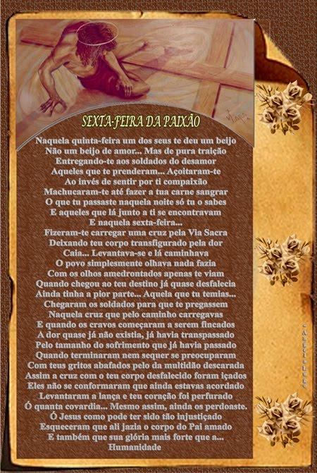 SEXTA-FEIRA DA PAIXÃO (antes da ressurreição)