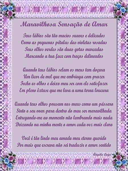 MARAVILHOSA SENSAÇÃO DE AMAR