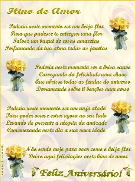 HINO DE AMOR (Parabéns Rosangela Colares)