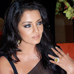 Celina Jaitley Hot In Black See Through Saree