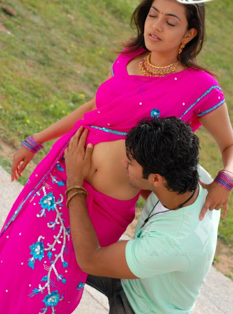 Image result for kajal navel kissing