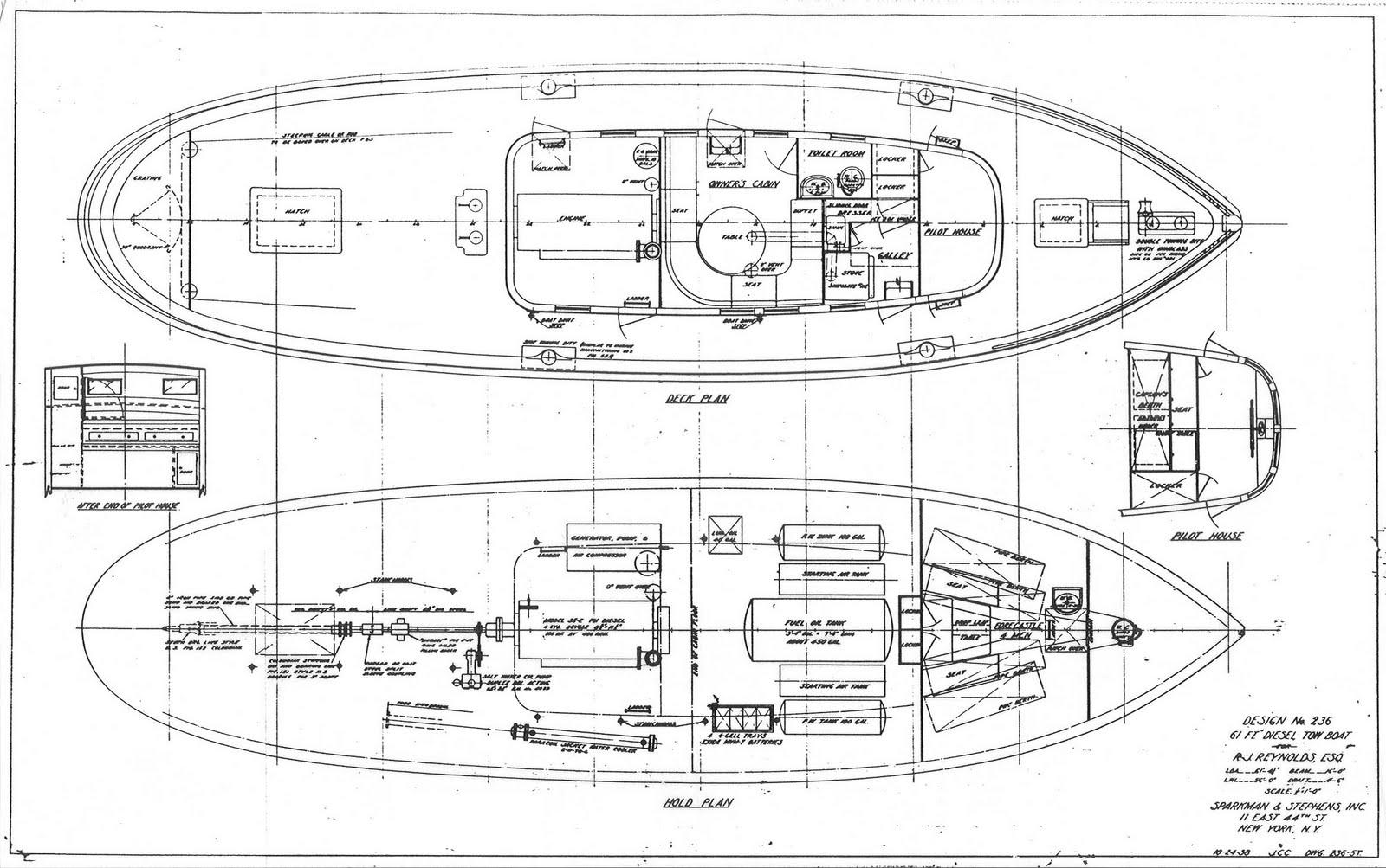 Sparkman & Stephens designed a tugboat.