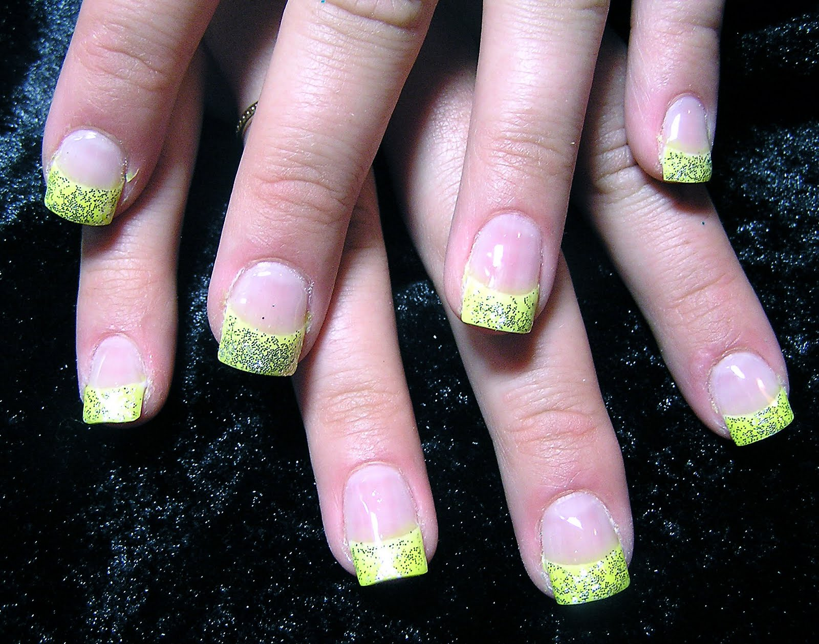Monkey Inspirations: Yellow tipped Nails Design
