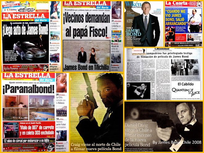 Quantum of Solace in the chilean media 2008...