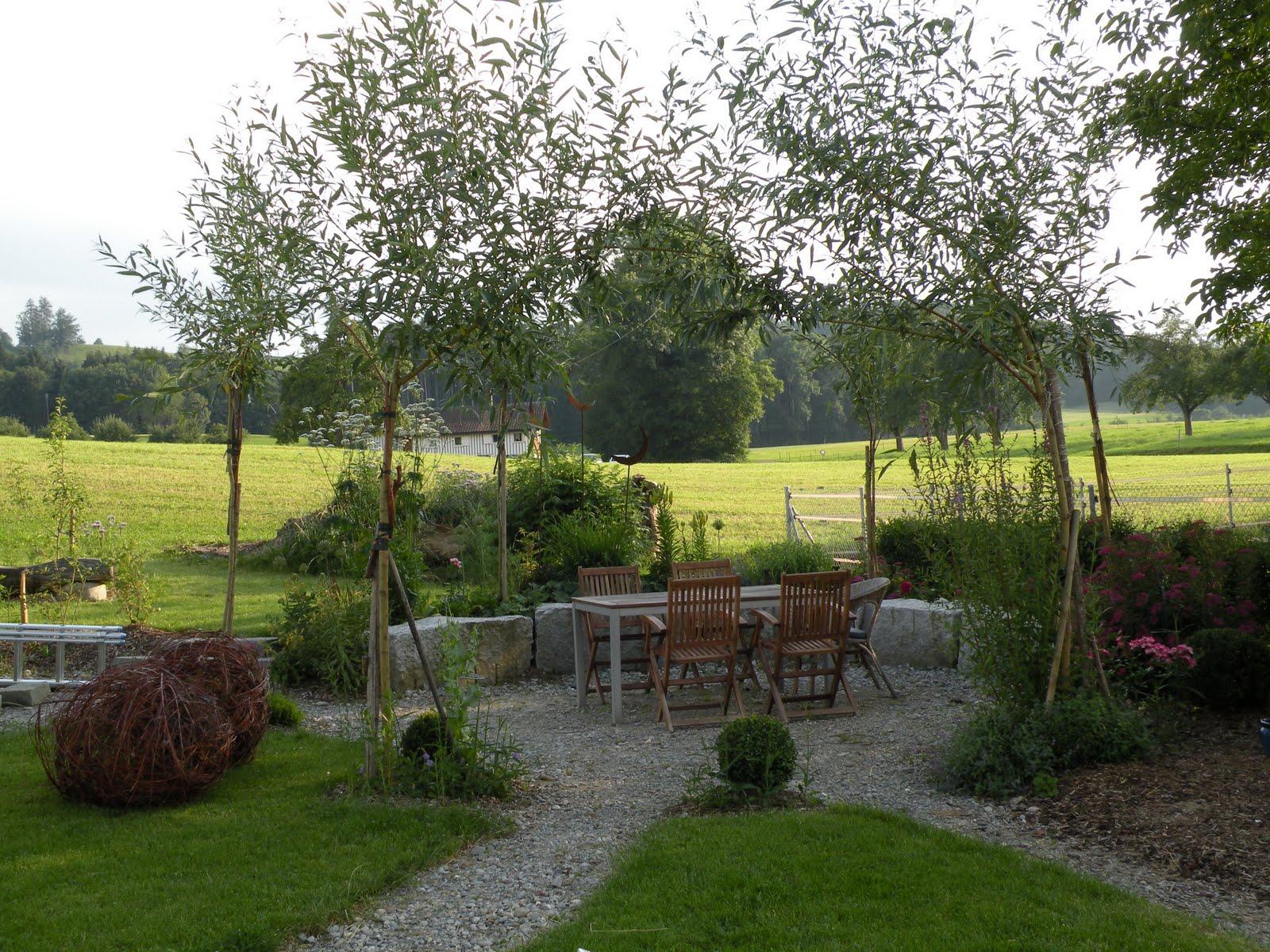 Ein Schweizer Garten Weiden Von Pavillons Und Flechtereien