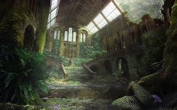 fantasy places place abandoned garden apocalyptic apocalypse pixhome ruins painting castle overgrown jungle fallen ruin wallpapers nature forgotten natural fantastical