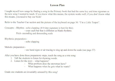 Lesson Plan I'm a Little Teapot
