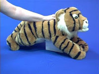 large tiger plush stuffed animal toy