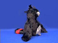 black cockatoo plush stuffed animal