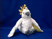 white cockatoo plush stuffed animal
