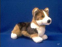 tri color welsh corgi plush stuffed animal