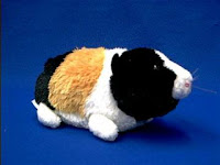 guinea pig plush stuffed animal black gold and white