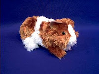 guinea pig plush stuffed animal gold and white