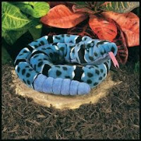 blue rock rattlesnake plush stuffed animal