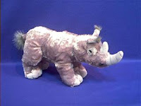 rhino plush stuffed animal