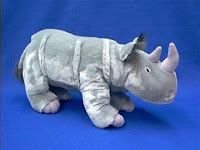 large rhino plush stuffed animal