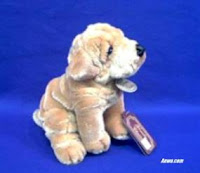 small shar pei plush stuffed animal toy