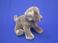 Weimaraner plush stuffed animal Hans Douglas