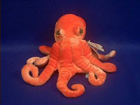 orange octopus plush stuffed animal toy