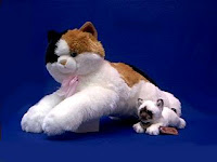 jumbo large calico cat plush stuffed animal esmerelda