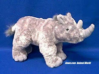 Rhino Plush Stuffed Animal Aurora Reba